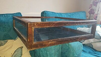 Antique counter/table top glass jewellery/shop display case