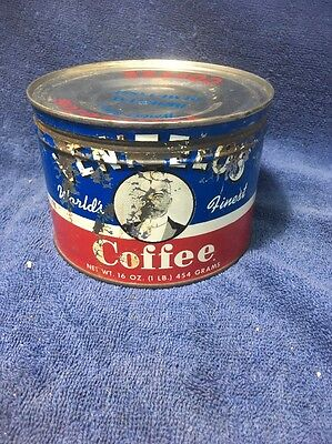 Vintage VENIZELOS Coffee Tin Can 1 Pound Can