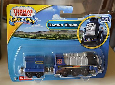 Thomas and Friends Take n Play Racing Vinnie Engine Portable NEW