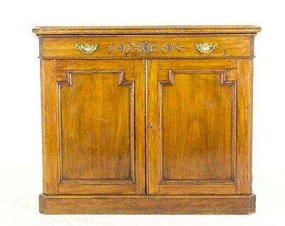B498 Antique Scottish Victorian Carved Mahogany Sideboard, Chiffonier, Console