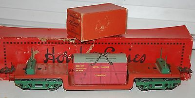 Hornby Series O Gauge Trolley Wagon Boxed With Furniture Container Boxed