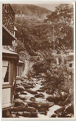 2 Old Picture Postcards of Lynmouth real photo rppc