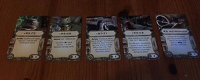 Star Wars X-Wing Miniatures - Awesome set of 5 Upgrade Cards - Astromechs