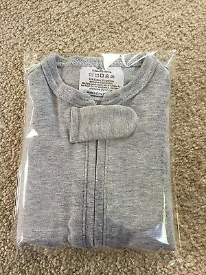 WOOMBIE Original One-step BABY SWADDLE Gray 0-3 month 5-13 lbs Soft Stretchy NEW