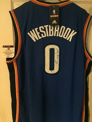 Russell Westbrook NBA Adidas Swingman Signed Jersey Signé COA Global Authentics