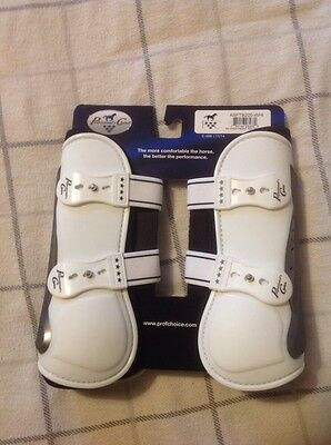 Pro Performance Show Jump Boots Front White TPU Fastener LAST CHANCE