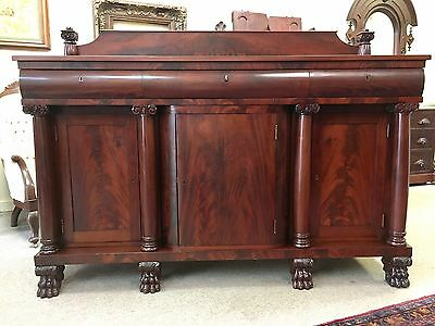 Mahogany American Classical Empire Sideboard