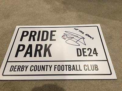 David Nugent Signed Derby County Signed 2016/2017 Squad Stadium Road Sign