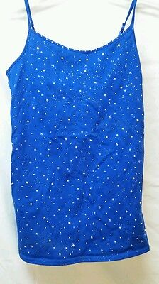 Justice size 18 sparkly blue girls camisole