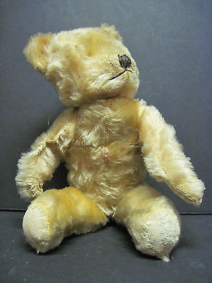 Antique Mohair Teddy Bear 14 Inches Needs Eyes Fully Jointed