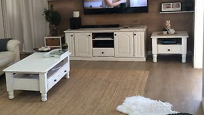 Living Room Package Coffee Table Tv Entertainment Unit Side Table White