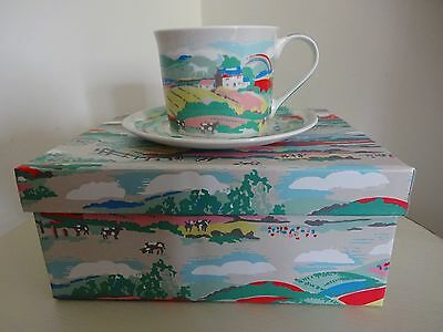 Cath Kidston Fine China Beacon View Cup And Saucer New In Box.
