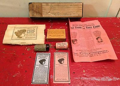 Antique 1900s Foso Co.Tablets,Foso Foam,Soap,Skin,Hair Care,Medical Sample Set