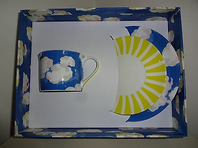 Cath Kidston Clouds Trio, Cup, Saucer And Tea Plate. Brand New  In Box