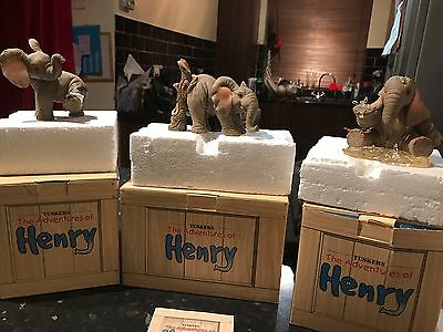 3x Henry Tuskers Collectable