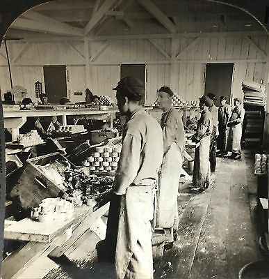 Chinese canning factory workers ~ Astoria, Oregon ~ Keystone stereoview