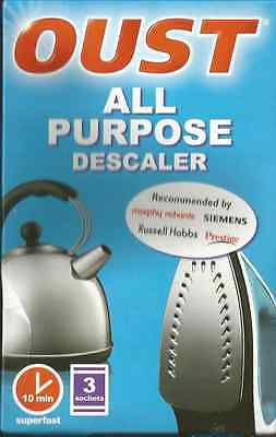 OUST ALL PURPOSE DESCALLER PACK OF- 3 SEALED SACHETS. - 10min fast working