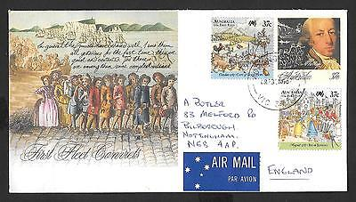 Australia First Fleet on postally used commercial cover POSTED TO ENGLAND