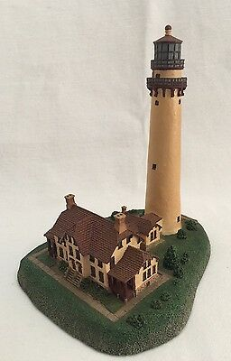 "Danbury Mint Lighthouse Grosse Point 6"" Tall"