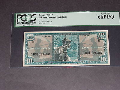 PCGS 66PPQ $10 Military Payment Certificate. Series 681