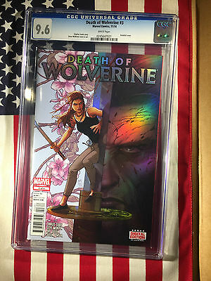 Marvel's Death of Wolverine #3 Holofoil Cover CGC 9.6