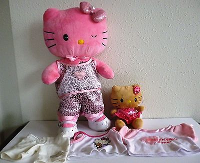 "Build A Bear HELLO KITTY 18"" LIMITED EDITION LOVE Pink winking Eye+ Smallfry +"