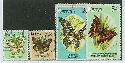 Kenya #424A-40 Postally Used, F-Vf, Complete Set - Butterflies