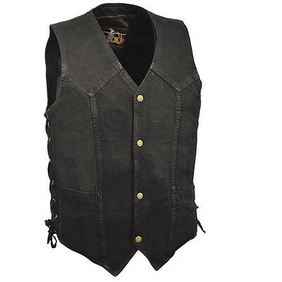 Milwaukee Performance Men's Large Concealment Black Denim Club Vest