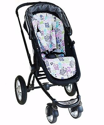 Bambella Pram Liner + Strap Covers Universal Fit FOREST LIFE