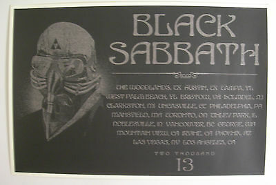 Black Sabbath Concert Tour Poster 2013 Only One Available