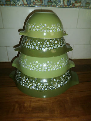 PYREX CINDERELLA STACKING MIXING BOWLS ~ SPRING BLOSSOM ~ RETRO VINTAGE 1970's