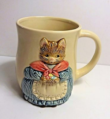 "Otagirl Japan Mother Cat Mug Cup ~ Vintage Hand Crafted ~ 3.75"" Tall"