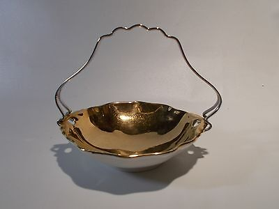 Royal Winton Fine China Golden Age Small Sweets Dish Gold Gilded with Handle