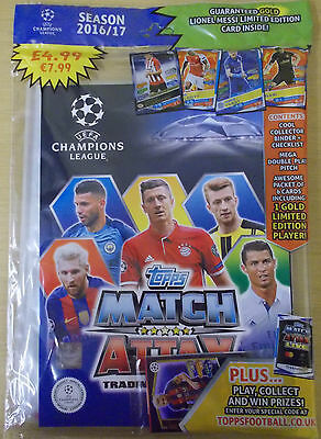 Topps ~ 2016/2017 Uefa Champions League Match Attax ~ Trading Card Starter Pack