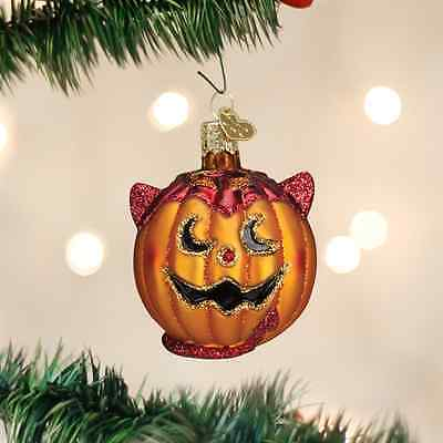 *Lil' Devil Pumpkin* [26072] Old World Christmas Halloween Glass Ornament - NEW