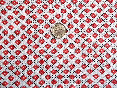 """Vintage Full Feed Sack Tiny Scale Red, White, Black 45"""" x 35"""" Mint"""