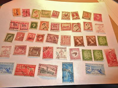New Zealand - lot old - used -good condition -vintage STAMPS