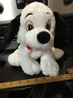 "Disney Store Exclusive 10"" Soft Plush / Beanie Lucky 101 Dalmatians Puppy Dog"