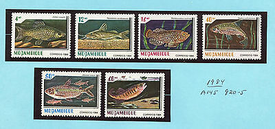 Mozambique 920-25 mint NH set FISH SCV $9.15