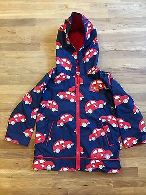 Penny Scallan Cars Raincoat Size 2, GUC