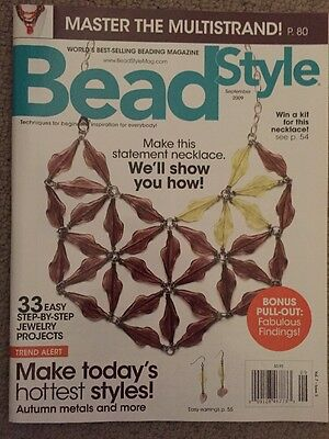 """BEAD STYLE"" Magazine - Sept 2009 Issue - 33 Projects Multi strand"