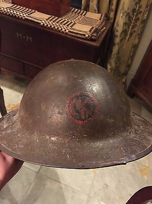 US WWI Regimental Paint Doughboy Helmet