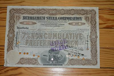 Bethlehem Steel Corporation Preferred Stock Certificate - 1912