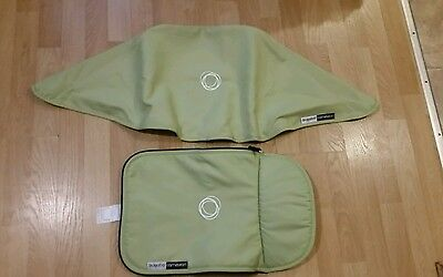 Bugaboo cameleon limited edition green canvas fabric set Hood and apron...