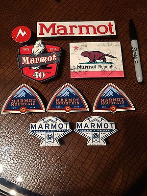 9 Marmot Stickers/Decals Outdoors Clothing and Equipment
