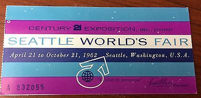 Admission Ticket from the Seattle World's Fair -1962
