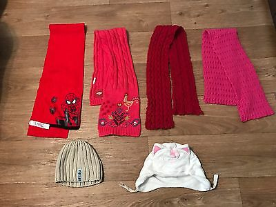 Girls Hats And Scarfs, 6 Items
