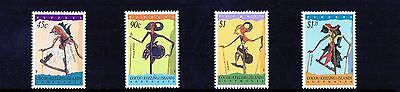 1994 Cocos (Keeling) Islands Shadow Puppets Set Of 4 Mint Never Hinged