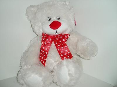 """New Valentine Sweet Sprouts 12"""" Plush White Bear Free Ship"""