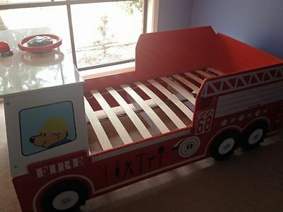 Child's bed firefighter truck bed